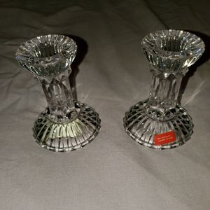 Mikasa crystal candle holders